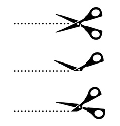set of scissors with black points vector image vector image