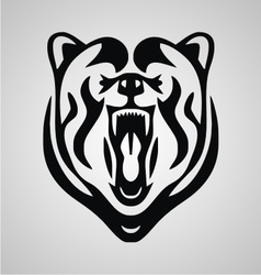Tribal Bear Head vector image