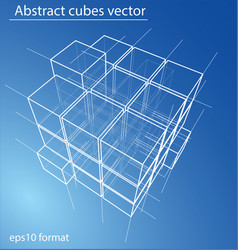wireframe boxes eps10 vector image vector image