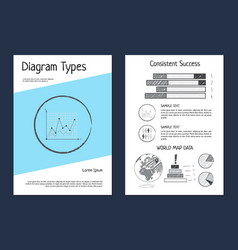 diagram types wold map data vector image