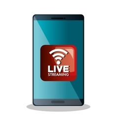 live straming concept isolated icon vector image