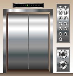 Elevator set vector image vector image