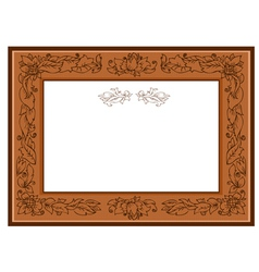frame with foliate doodles vector image vector image