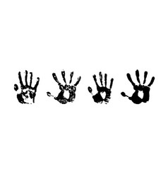 hand print grunge paint vector image