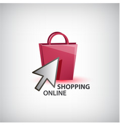 online shopping logo isolated vector image vector image