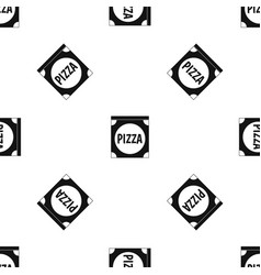 pizza box cover pattern seamless black vector image vector image