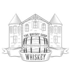 Vintage Whiskey Shop vector image vector image