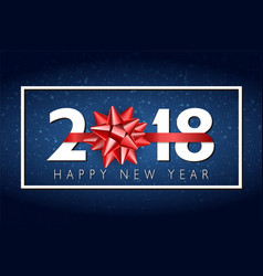 2018 happy new year background with red vector image