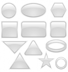 glass icon set vector image vector image