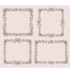ornament doodles vector image vector image