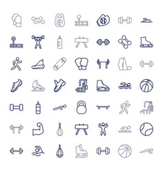 49 athletic icons vector
