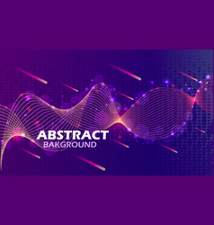 a bright abstract background with lines waves vector image