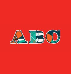 Abc concept word art vector
