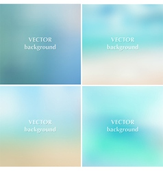 Abstract blue sea summer blurred backgrounds vector image