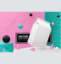 abstract scene with podium and paper pack vector image