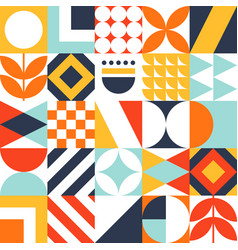Abstract seamless bauhaus pattern colorful vector