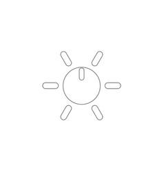 adjusting regulator flat icon vector image