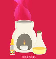 Aromatherapy equipment flat design vector