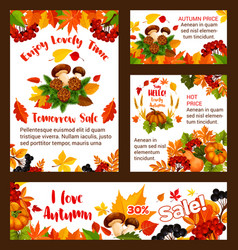 Autumn sale web banners and posters vector