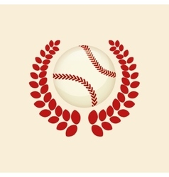 Baseball ball wreath vector