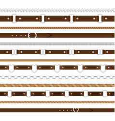 Belts seamless pattern vector