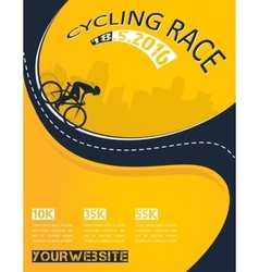 Bicycle race event poster design vector