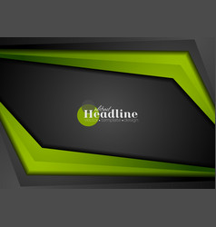 Black and green abstract corporate contrast vector