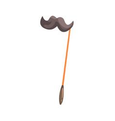 Black mustache on a stick celebration party vector