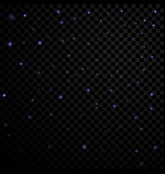 blue light stars on black transparent background vector image