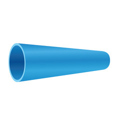 Blue pvc pipe on white background vector