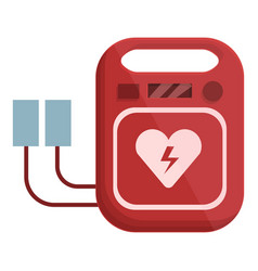 Cardiac defibrillator icon cartoon style vector