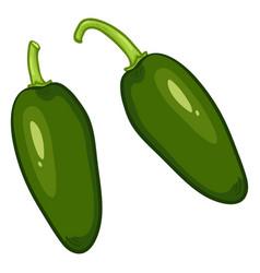 Cartoon green jalapeno peppers vector