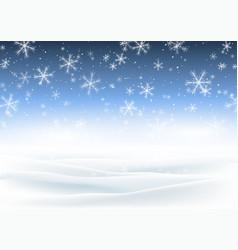 Christmas snowy landscape vector