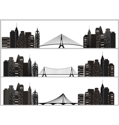 city set black vector image
