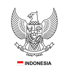 coat arms indonesia vector image