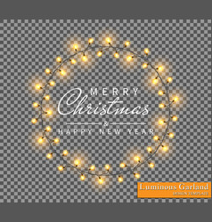 color garland festive decorations glowing vector image