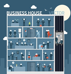 Concept business people in house agreement vector