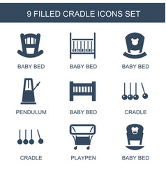Cradle icons vector