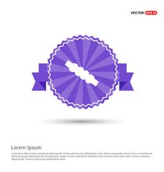 Cricket bails icon - purple ribbon banner vector