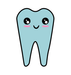 Dental care symbol kawaii cartoon vector