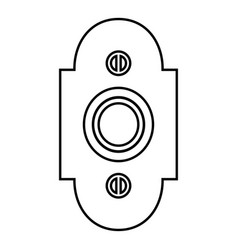 doorbell icon black color flat style simple image vector image