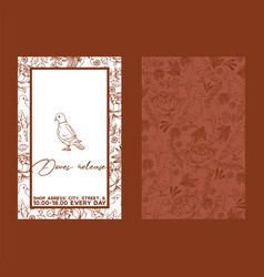 dove sketch for wedding ceremony celebration party vector image