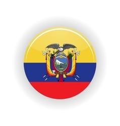 Ecuador icon circle vector
