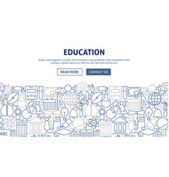 Education banner design vector