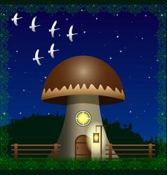 fantasy house of a large mushroom vector image