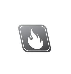 fire symbol and flame for logo design fireball vector image