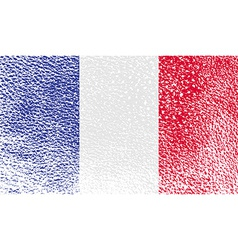 Flag of France with old texture vector image
