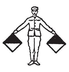 flag signal for letter n vintage vector image