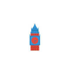 flat icon big ben element of vector image