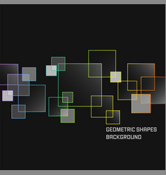Geometric shapes dark abstract background square vector